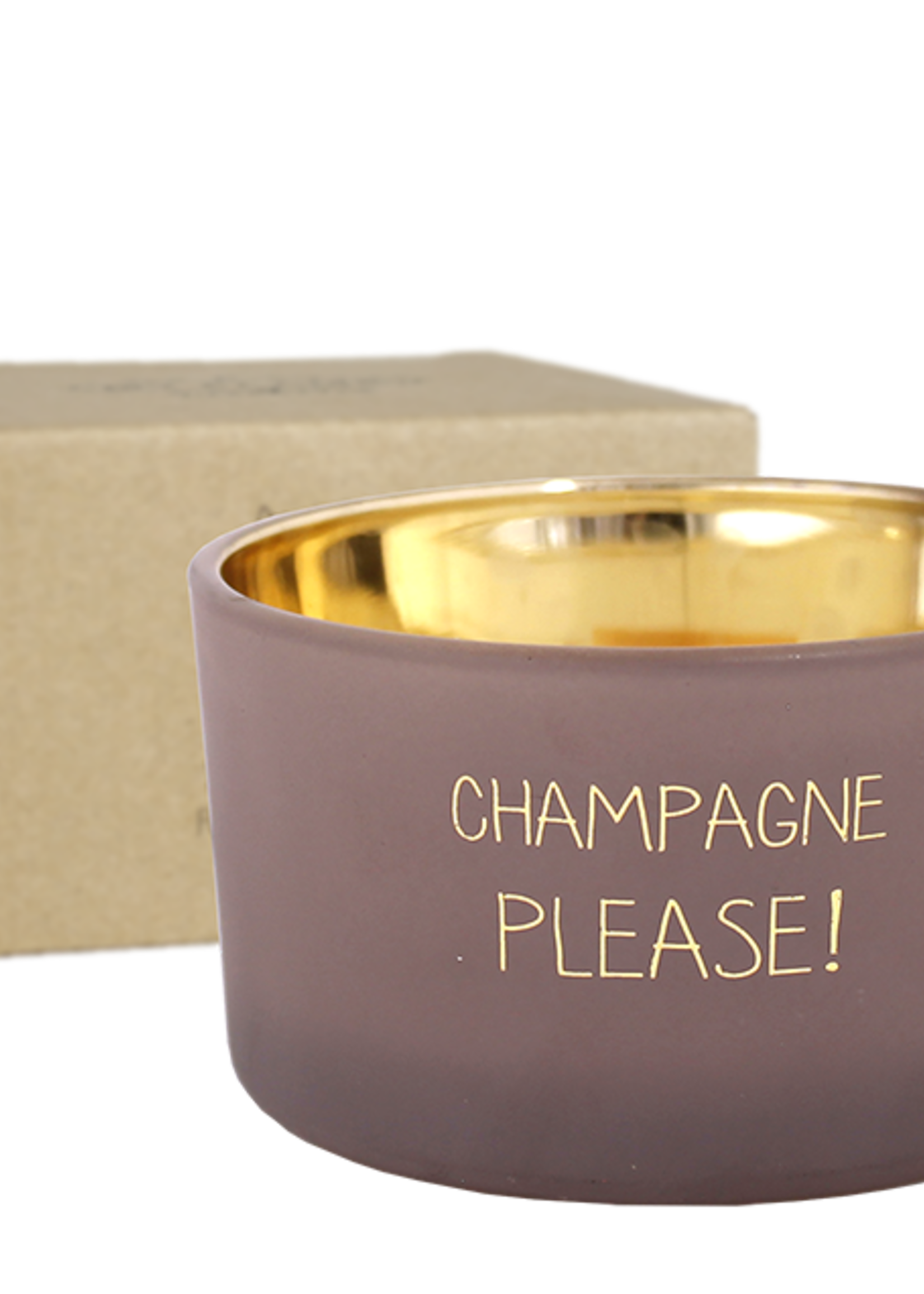 MY FLAME SOJAKAARS - CHAMPAGNE PLEASE - GEUR: FIG'S DELIGHT