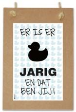 PAPERART Wenskaart Er is er ....