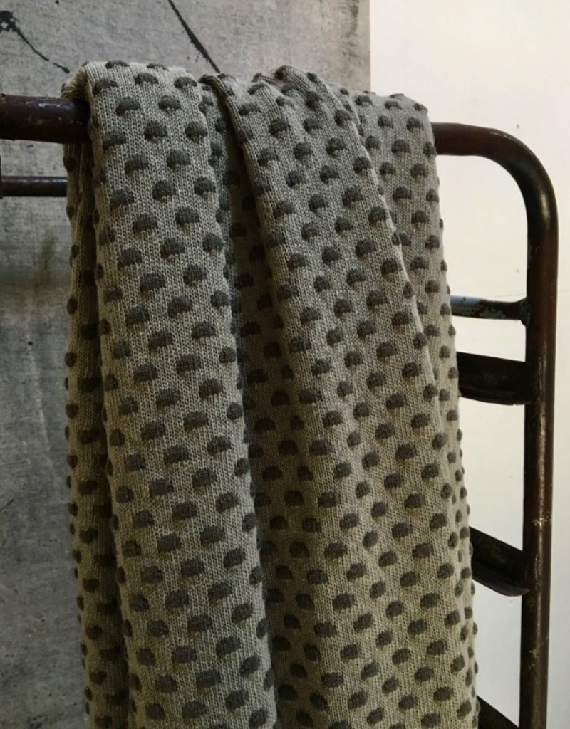 STAPELGOED Plaid Dots Army / Green 100/150 cm
