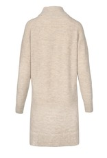 ZUSSS Gebreide jurk met col zand