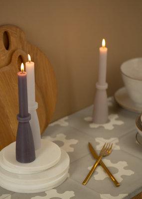 Rustic sculpture candle donker grijs