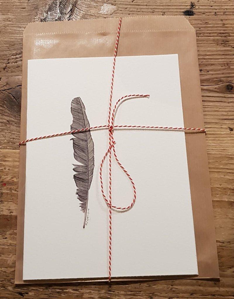 Handgemaakte kaart veer incl enveloppe