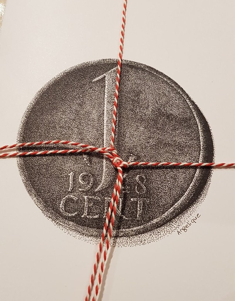 Handgemaakte kaart cent incl enveloppe