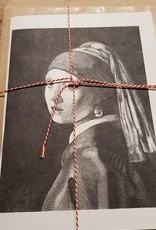 Handgemaakte kaart dame incl enveloppe
