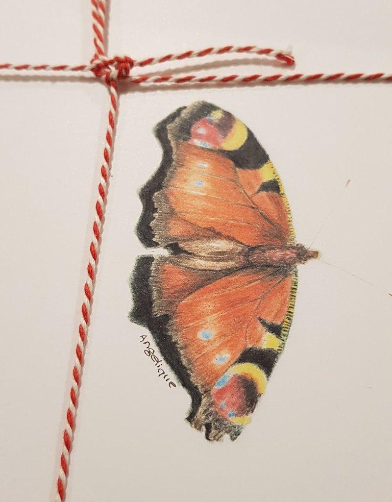 Handgemaakte kaart vlinder incl enveloppe
