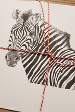 Handgemaakte kaart zebra incl enveloppe