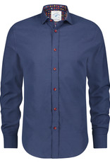 A Fish Named Fred Shirt brushed navy blue oxford