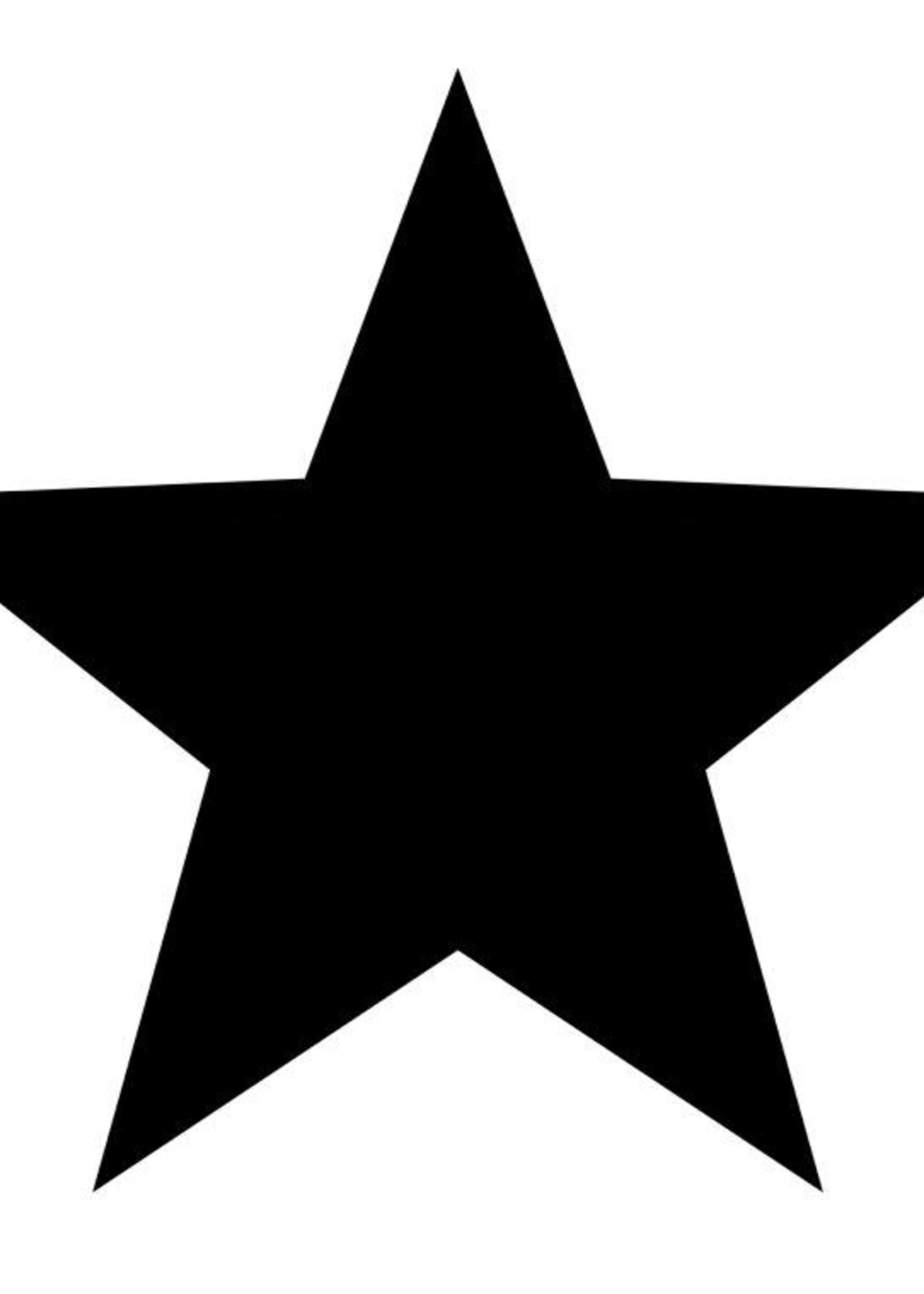 Muur ster zwart