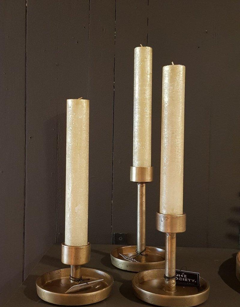 candleholder XL kaars maat L goud