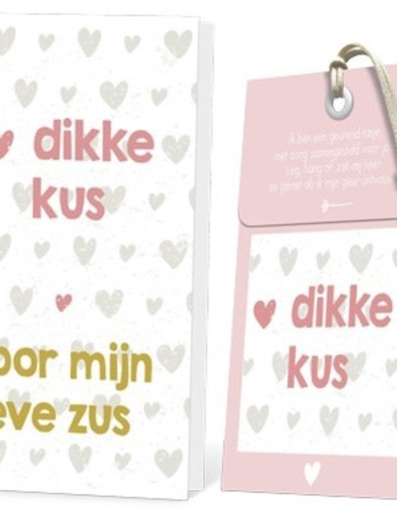 FLOWERCARDS Geurwenskaart Dikke kus voor mijn zus