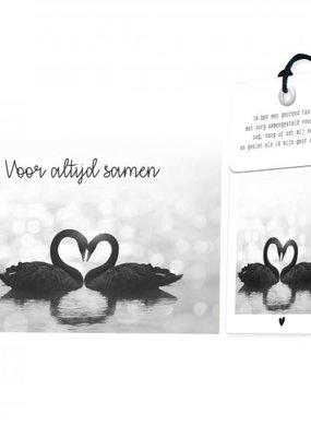 FLOWERCARDS Geurwenskaart  Voor altijd samen