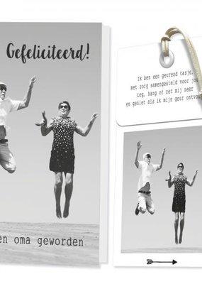 FLOWERCARDS Geurwenskaart Gefeliciteerd