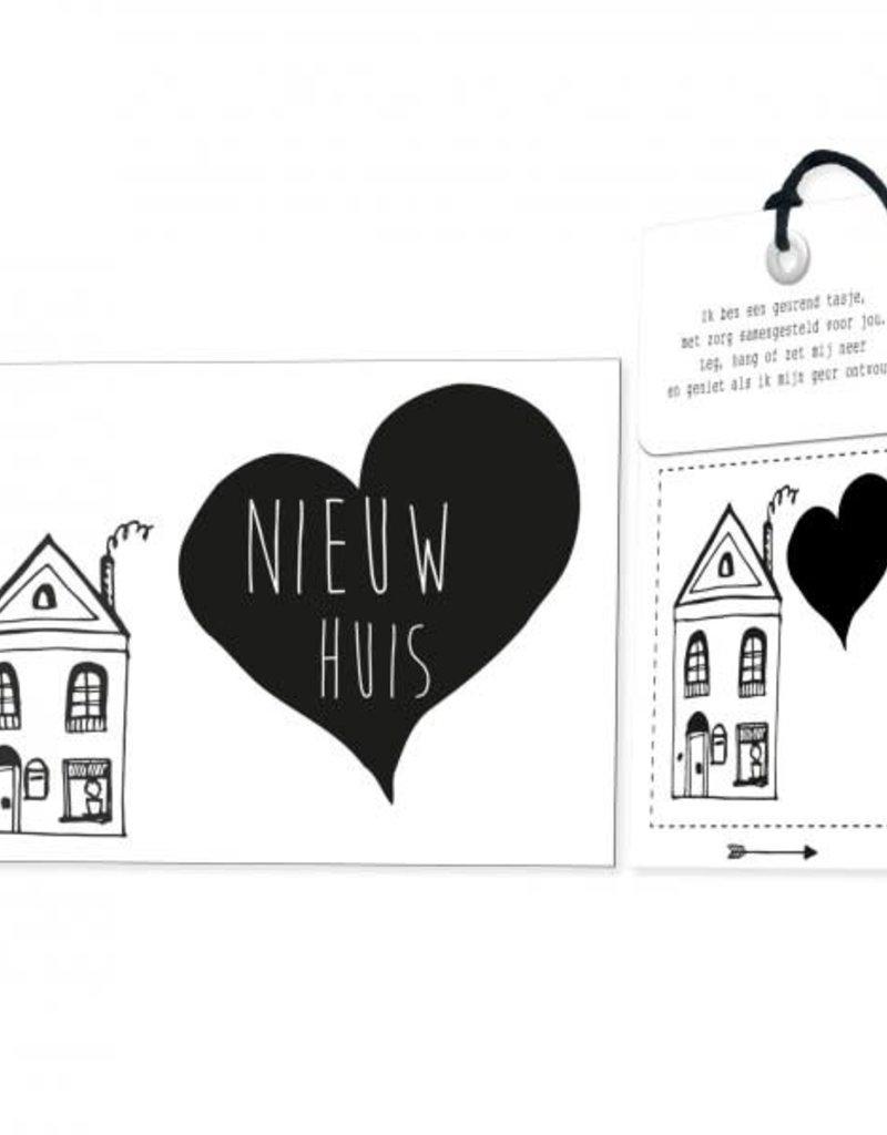 FLOWERCARDS Geurwenskaart Nieuw huis