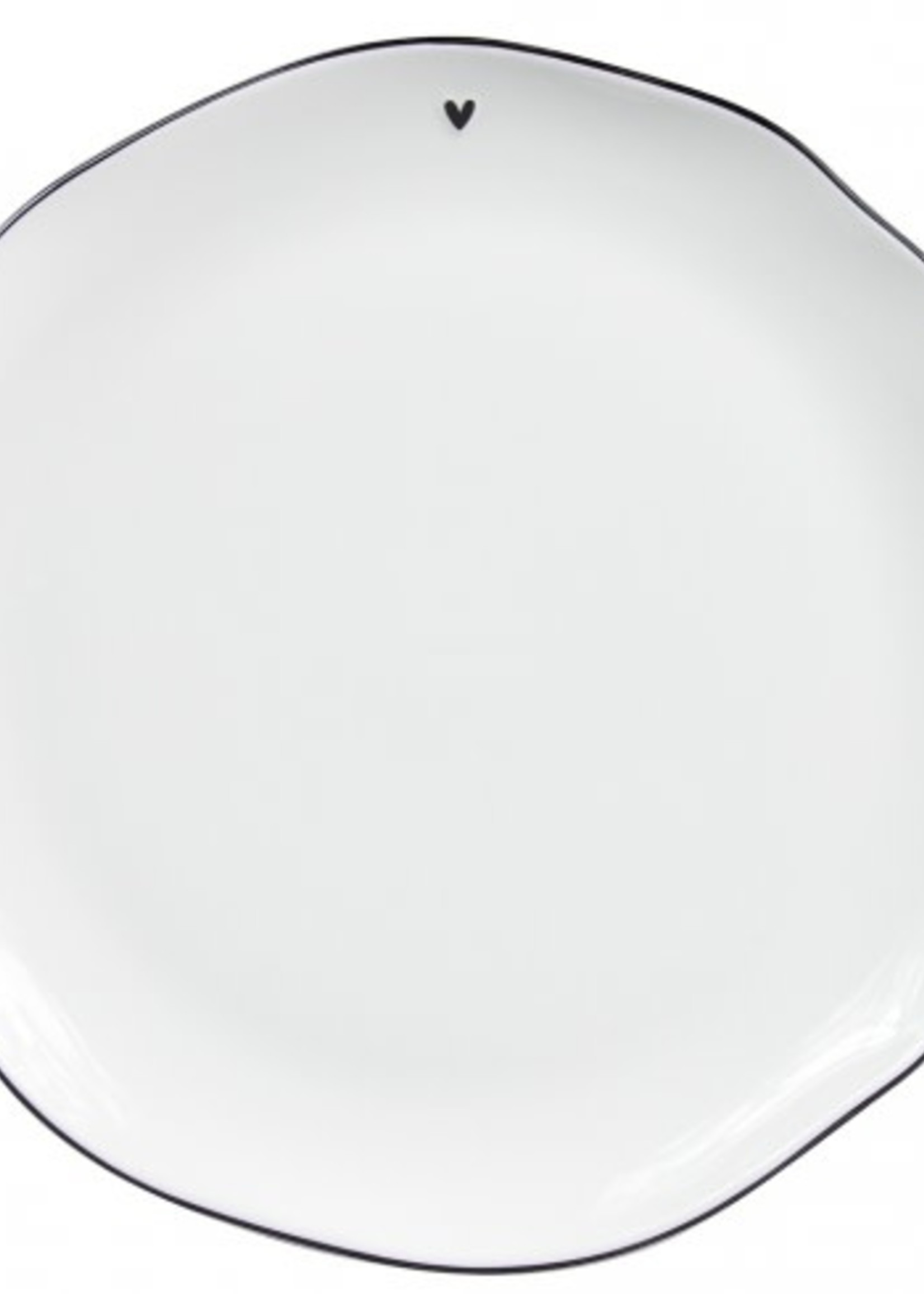 BASTION COLLECTIONS Dinner plate white/edge black 27cm