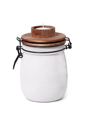 LEEF Tealight holder Teun white