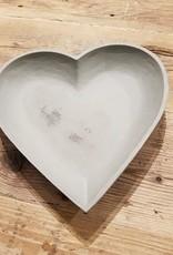 Houten hart grey