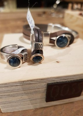 QOSS Gwen ring vntzwart - jeansblauw bol