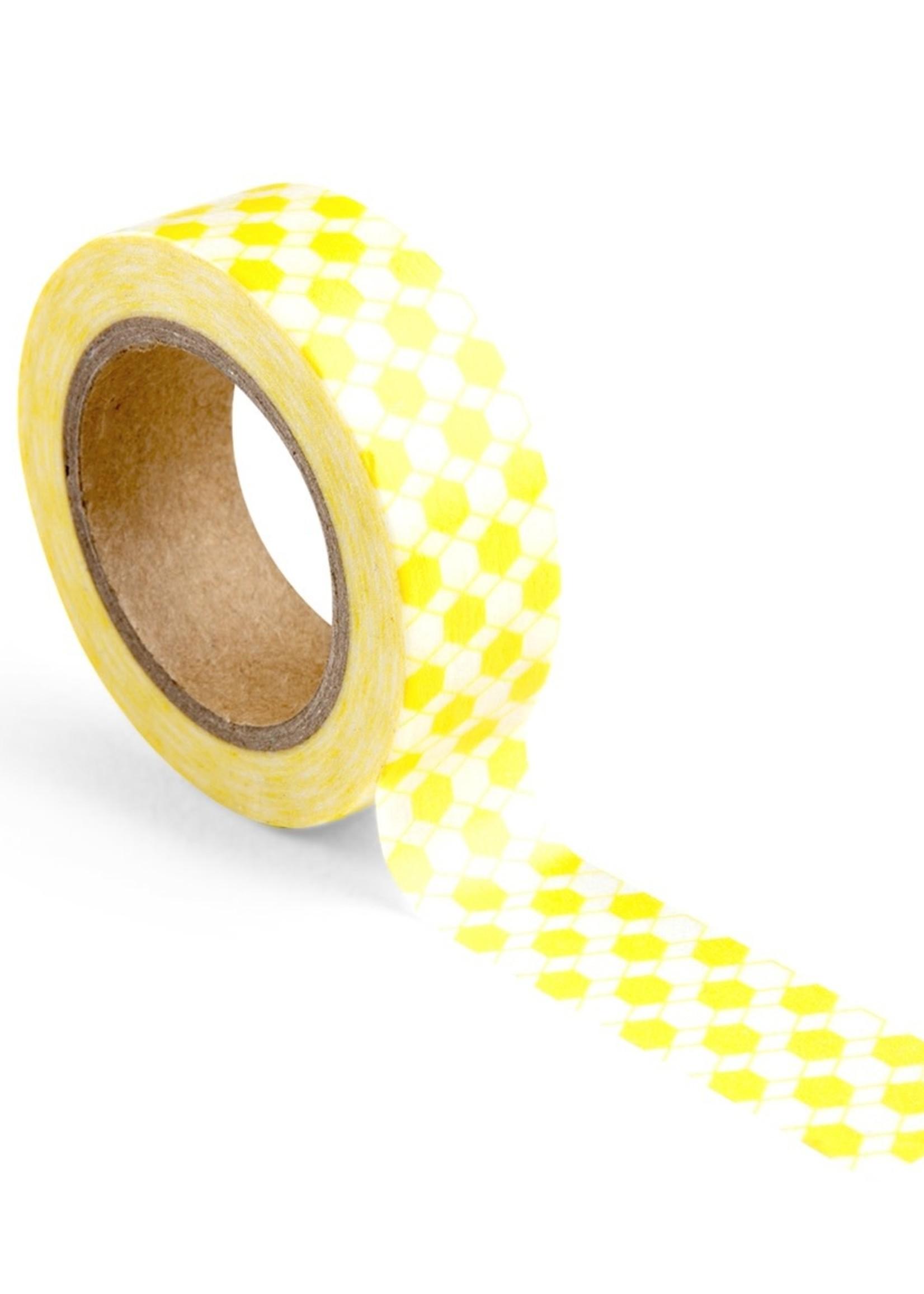 WOWGOODS Tape Honeycomb Yellow