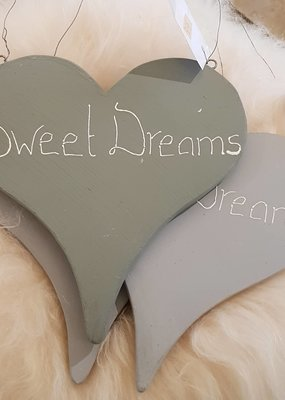 OPDEMAALZOLDER Houten hart Sweet Dreams