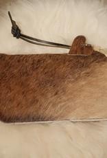 VAN BUREN clutch met echte dierenvacht