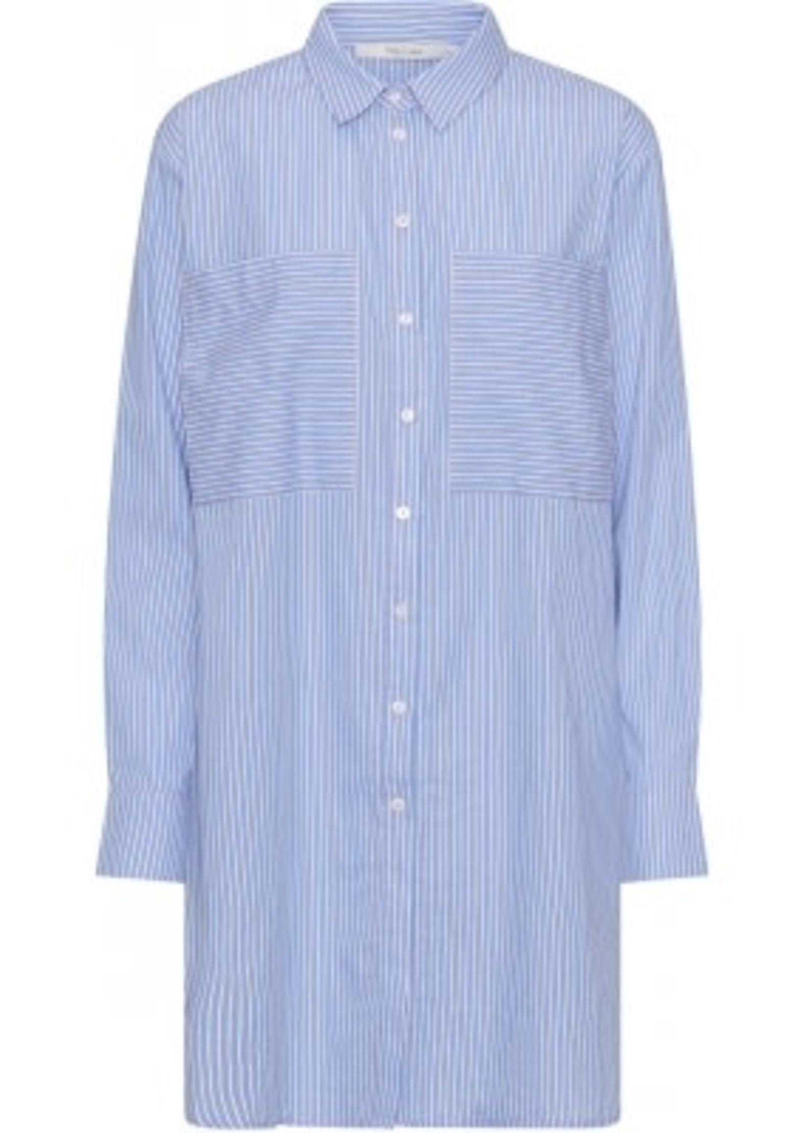 COSTAMANI Beach Stripe long shirt blue
