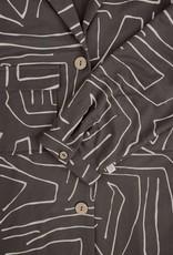 ZUSSS Doorknoopjurk met safariprint grafietgrijs