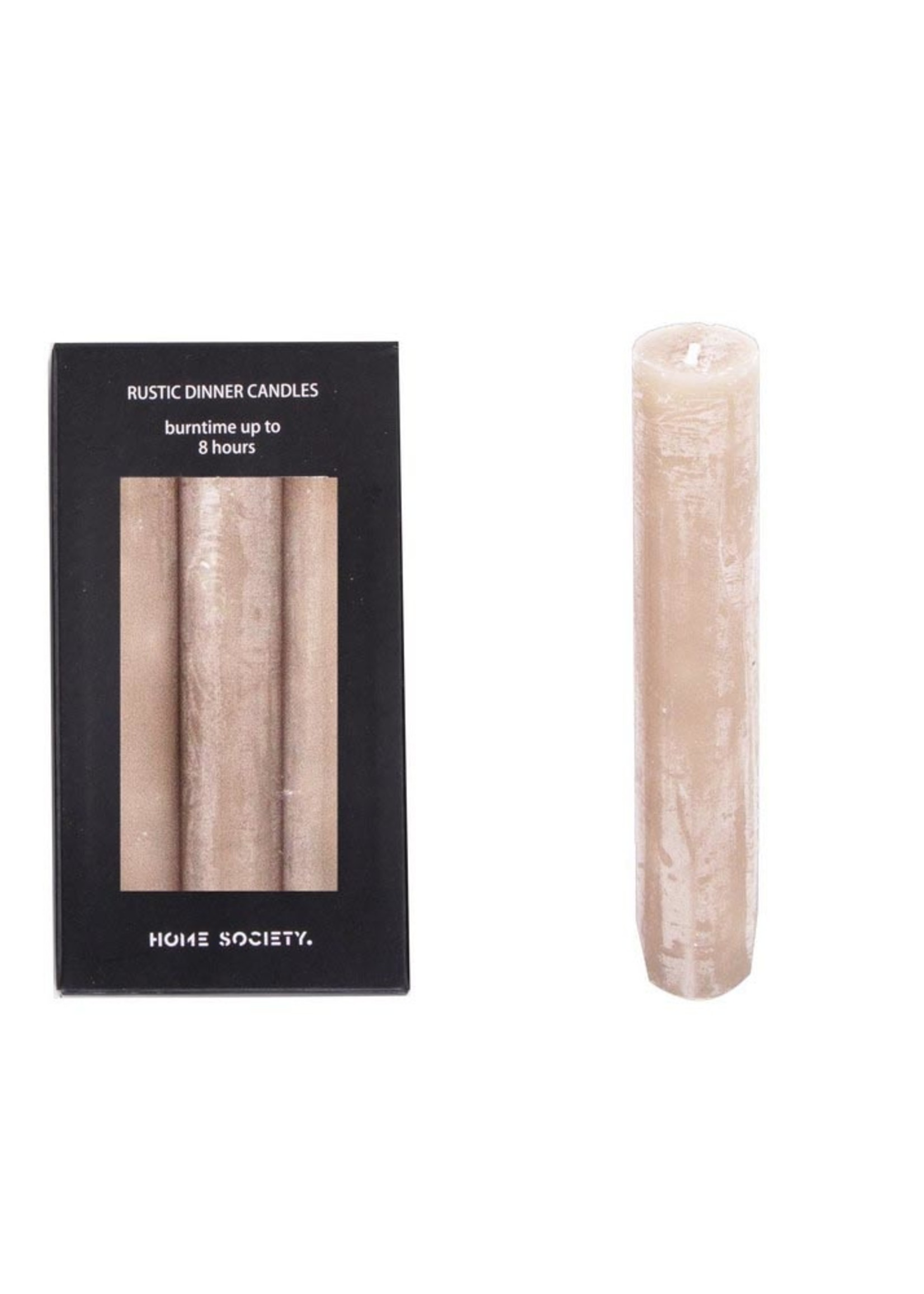 Rustuc dinner candles S Taupe