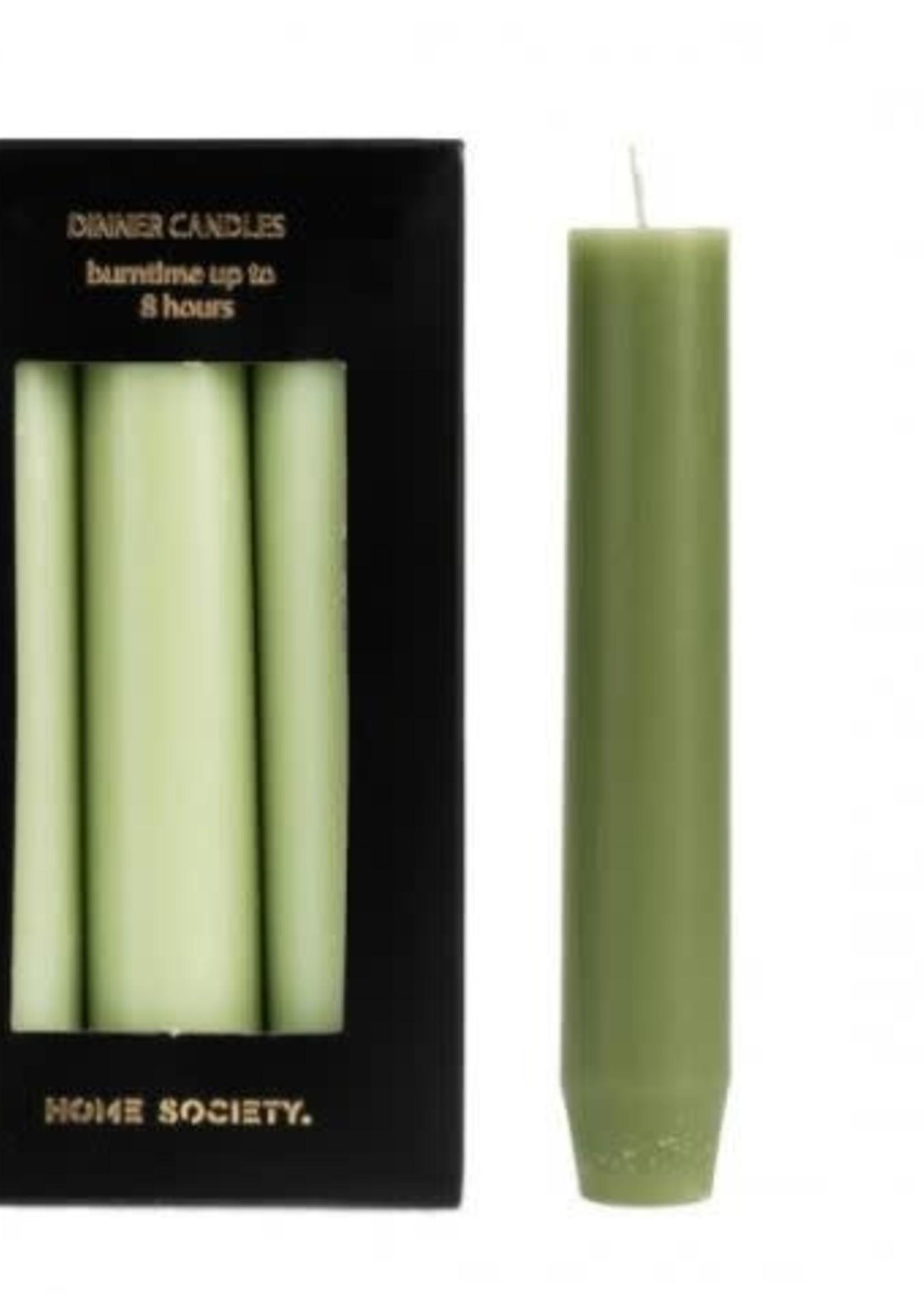 Rustic dinner candles licht groen