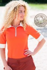 MOOI VROLIJK Top Zipper basic Orange 21135