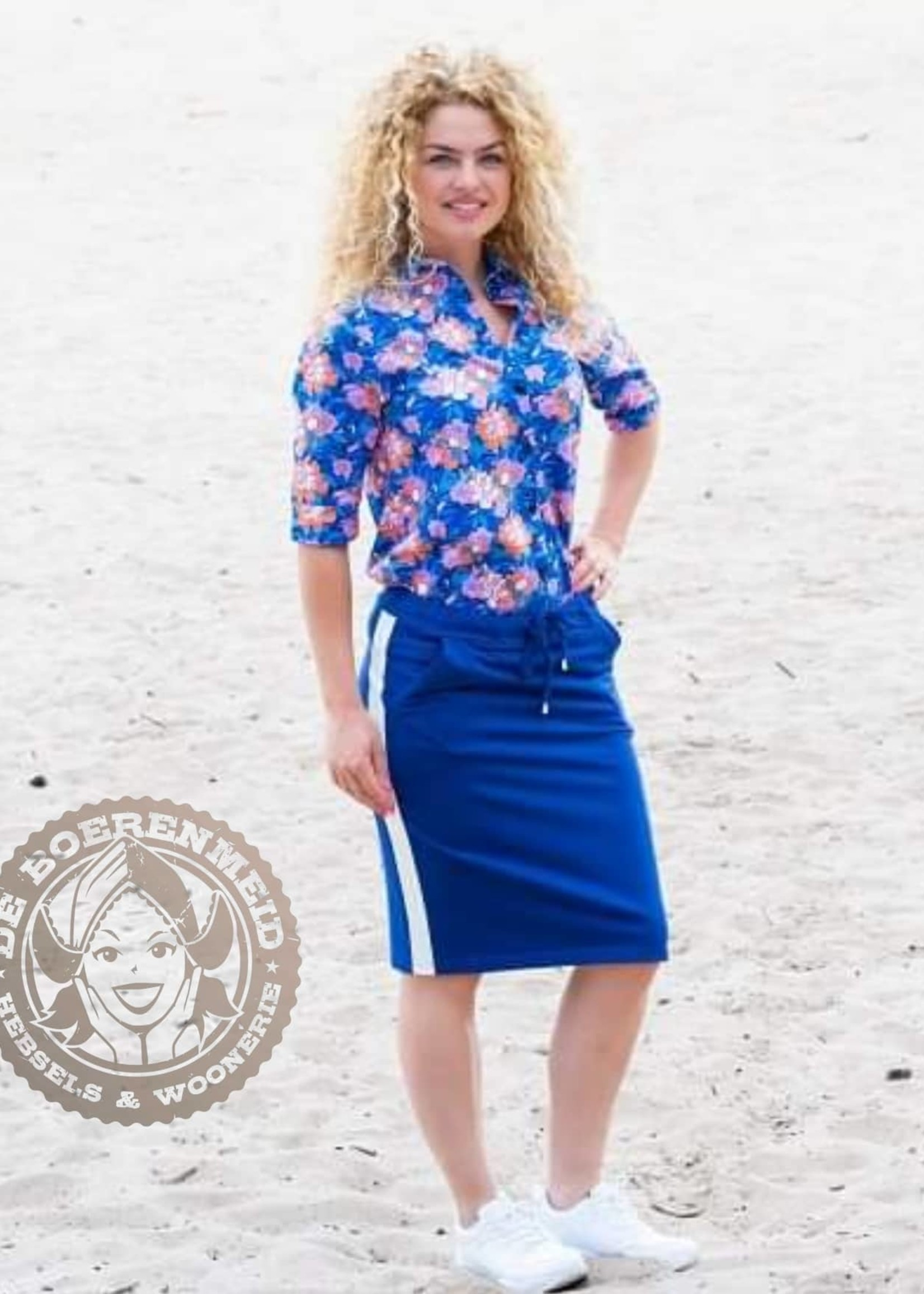 MOOI VROLIJK Skirt Happy basic cobalt 21154
