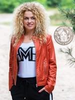 MOOI VROLIJK Jacket short basic leather Orange 21218