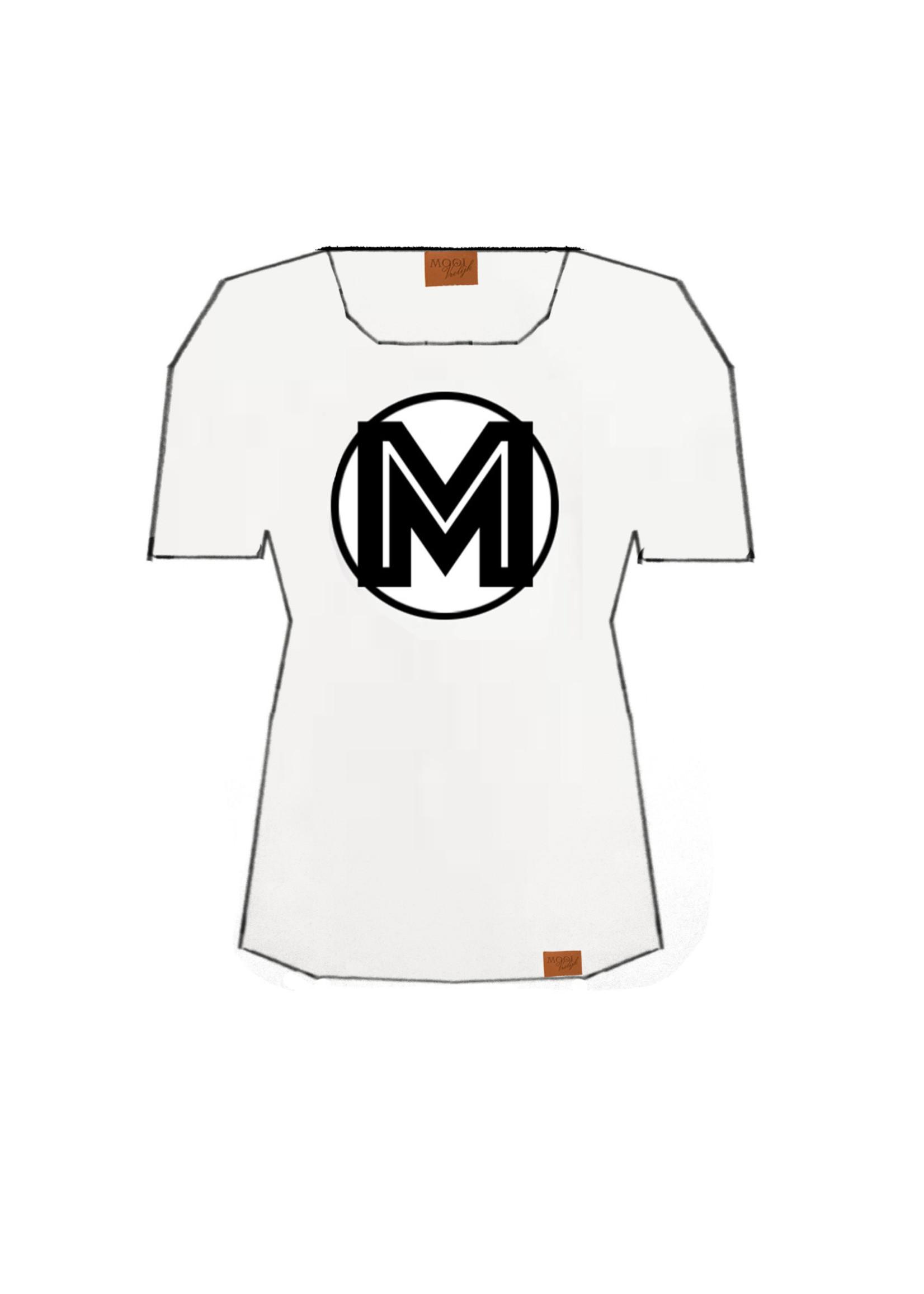 MOOI VROLIJK T-shirt White black M 21224