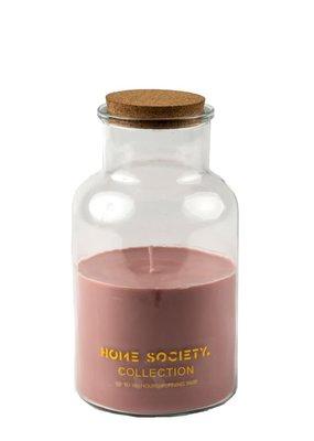 Jar candle lisse roze
