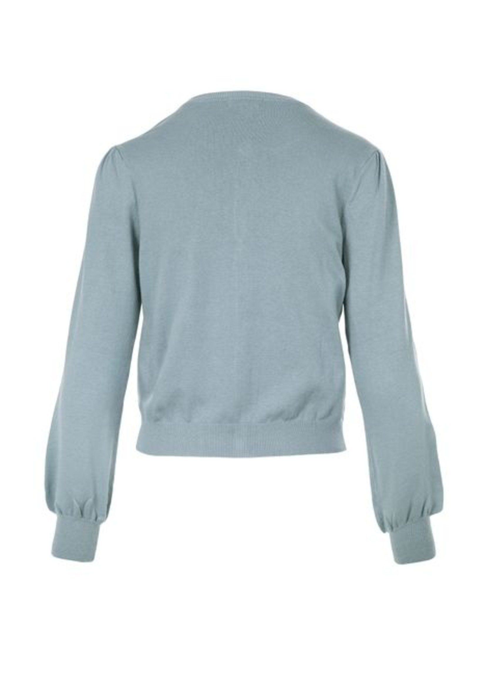 ZUSSS Basic vestje grijs-blauw