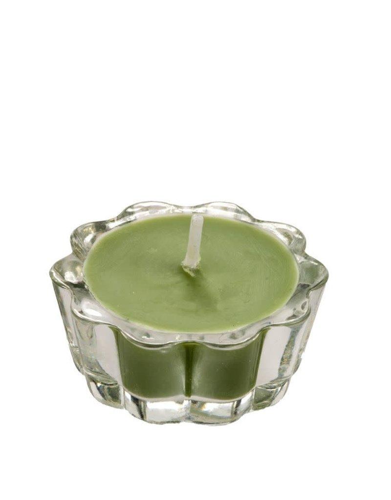 Flower votive groen
