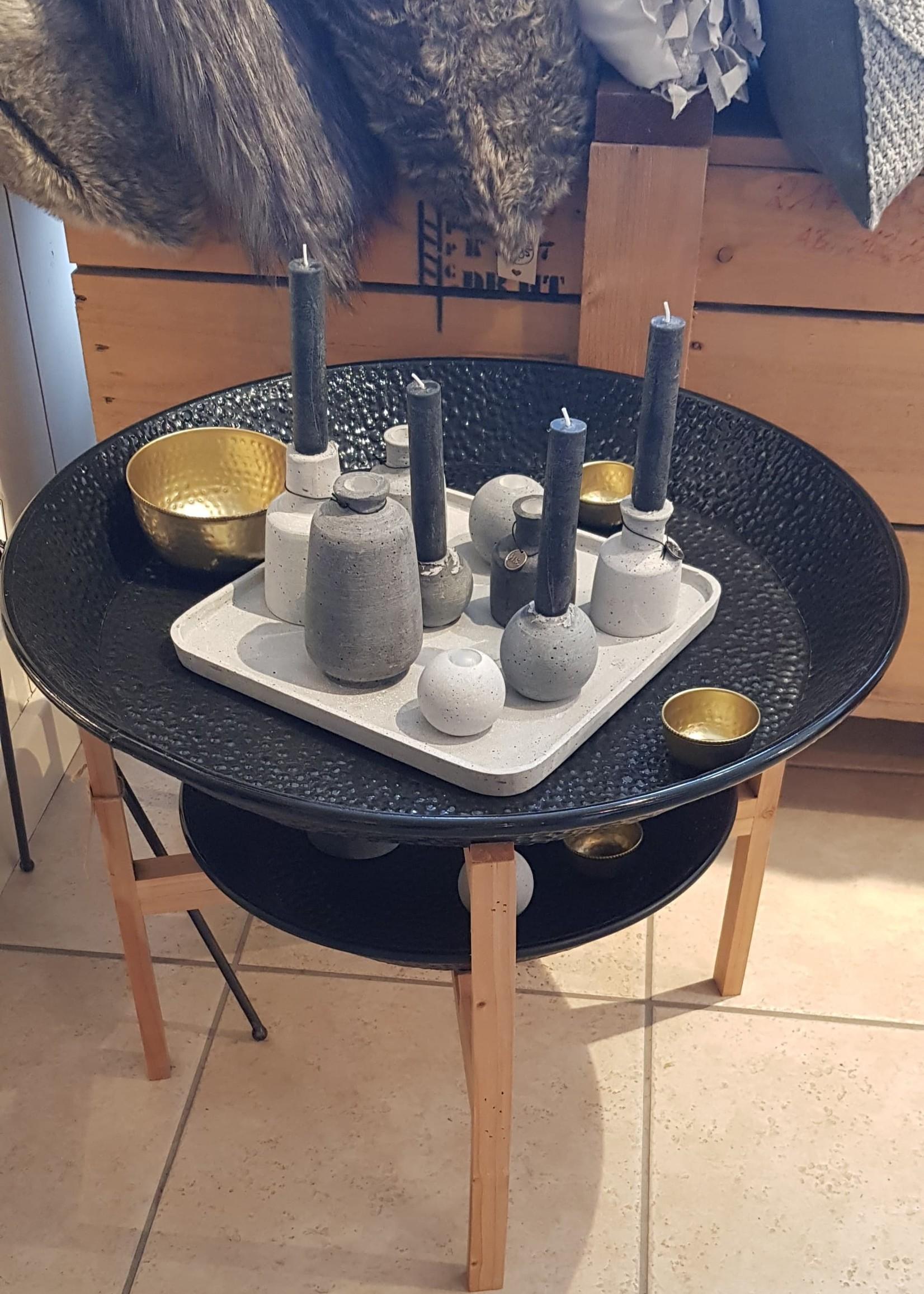 ART SENSATION Tenpa schalen zwart met houten staander dubbel
