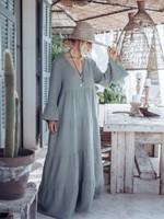 BYPIAS SUNNY DAYS COTTON DRESS, OLIVE