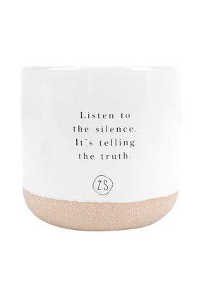 Keramieken geurkaars listen to the silence