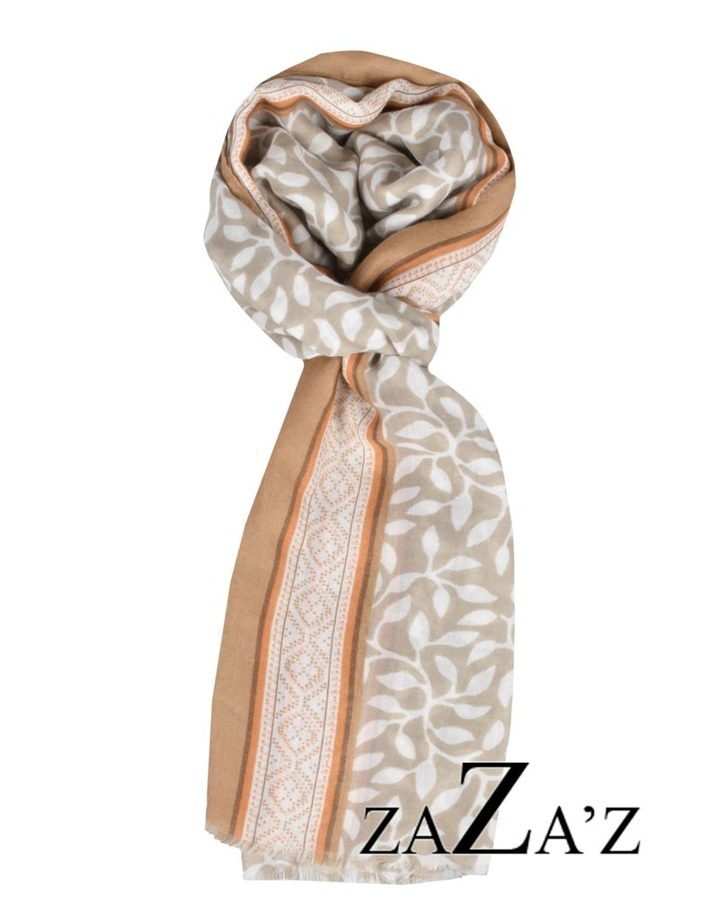 sjaal patroon met blaadjes en takjes