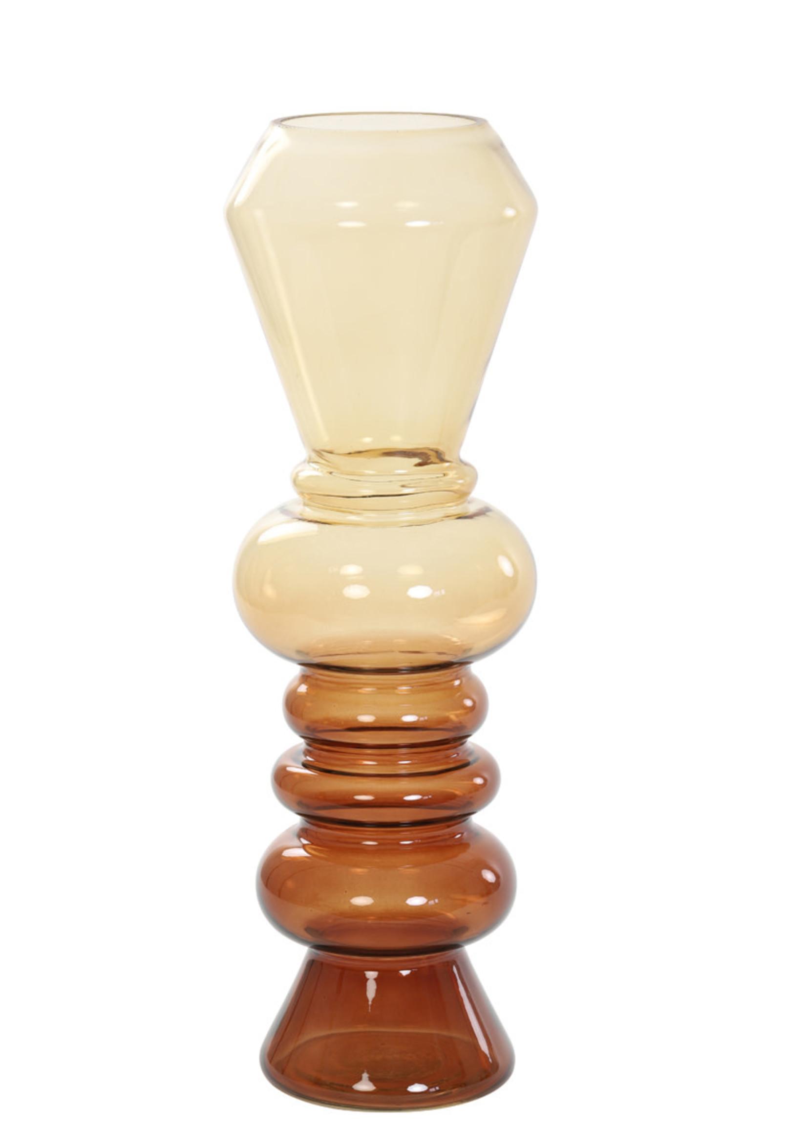 LIGHT&LIVING Vaas Livon glas bruin