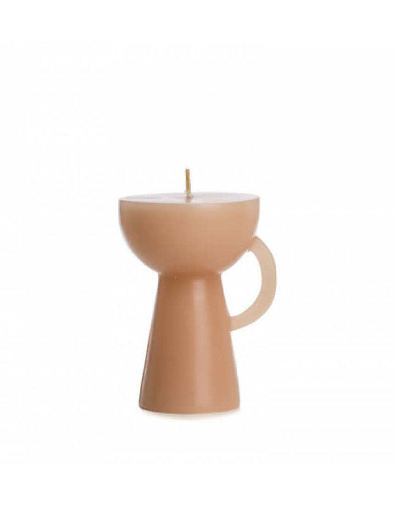Kaars cup kleur caramel