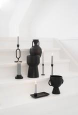 ZUSSS Moderne vaas keramiek zwart