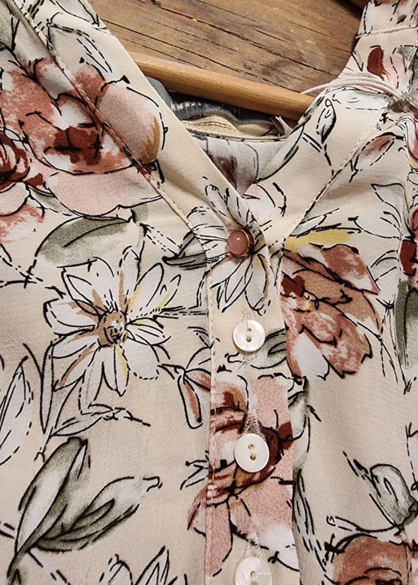 COSTAMANI Alexia Flower shirt Laatste - Maat M