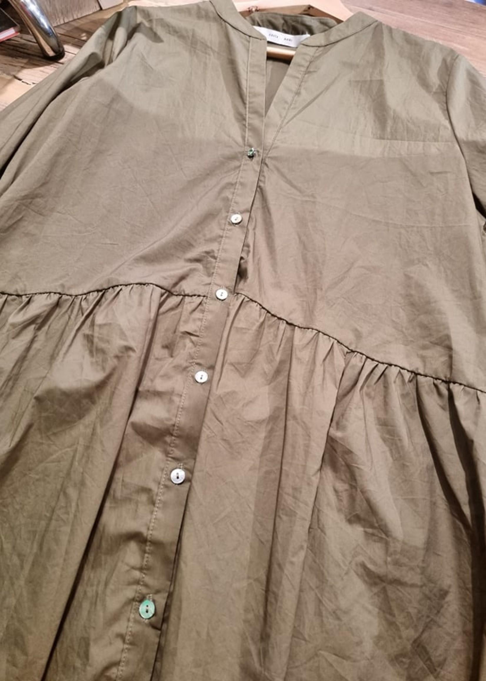 COSTAMANI Shirt Nora Army  Laatste - Maat M