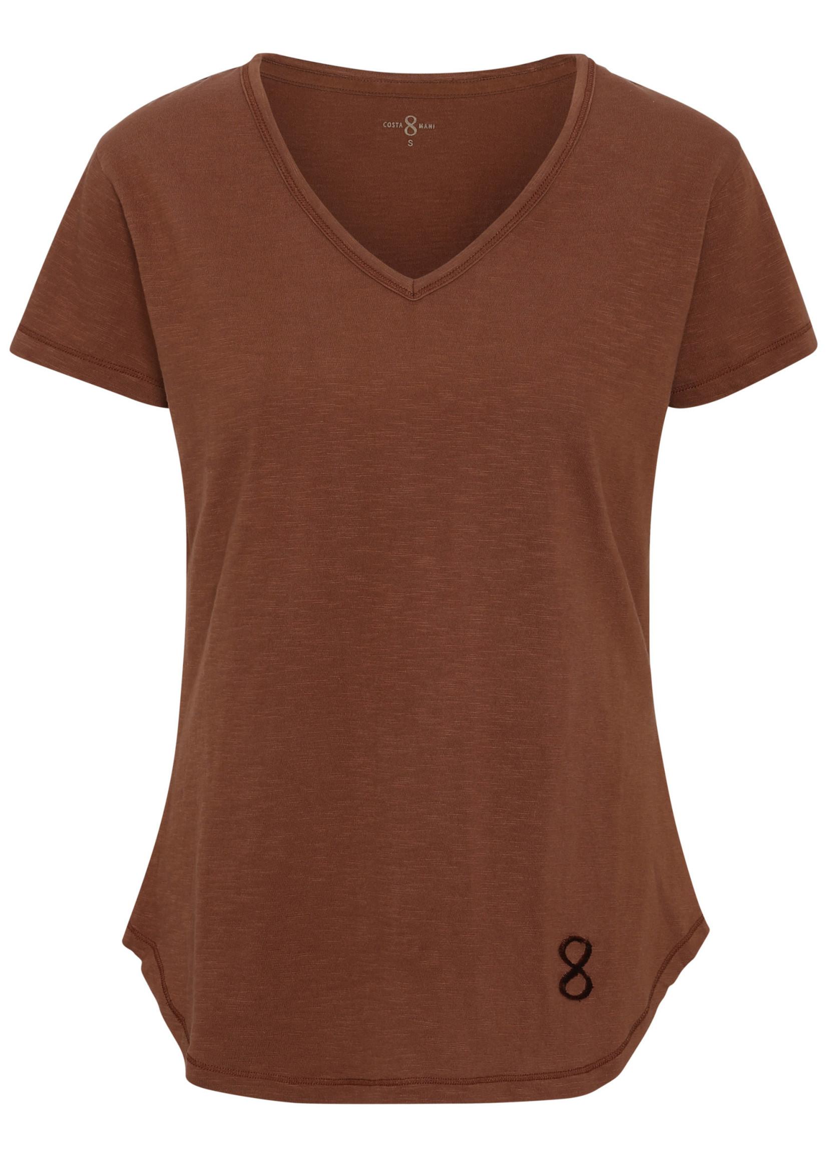 COSTAMANI T-shirt kleur camel - laatste maat M