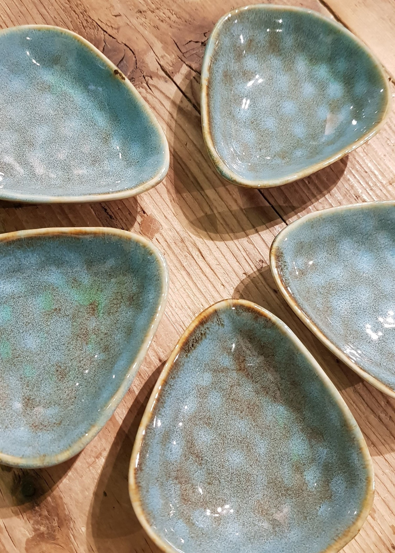 Schaaltje  blauw voor de amberblokjes