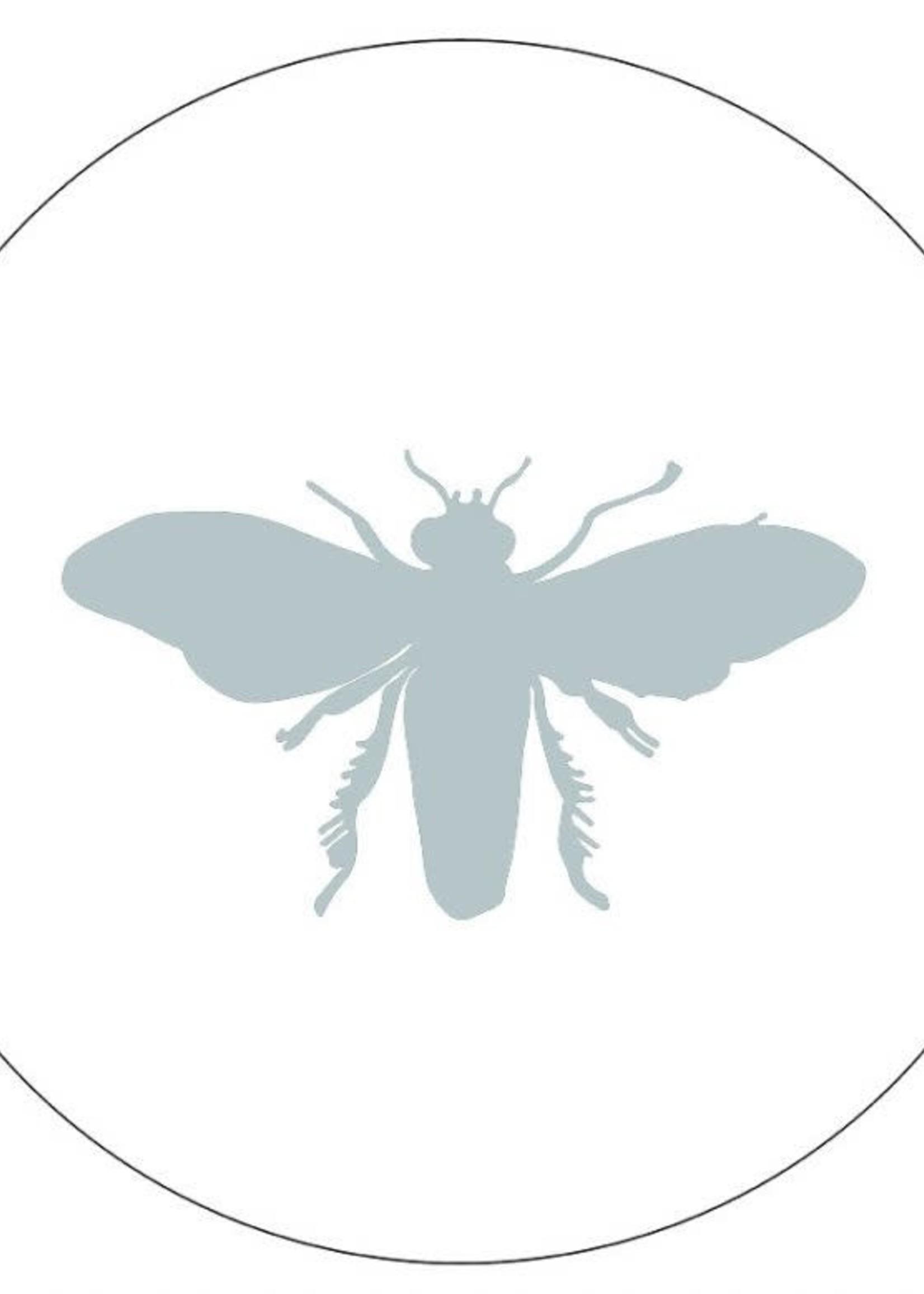 Muurcirkel insect zeeblauw 40cm