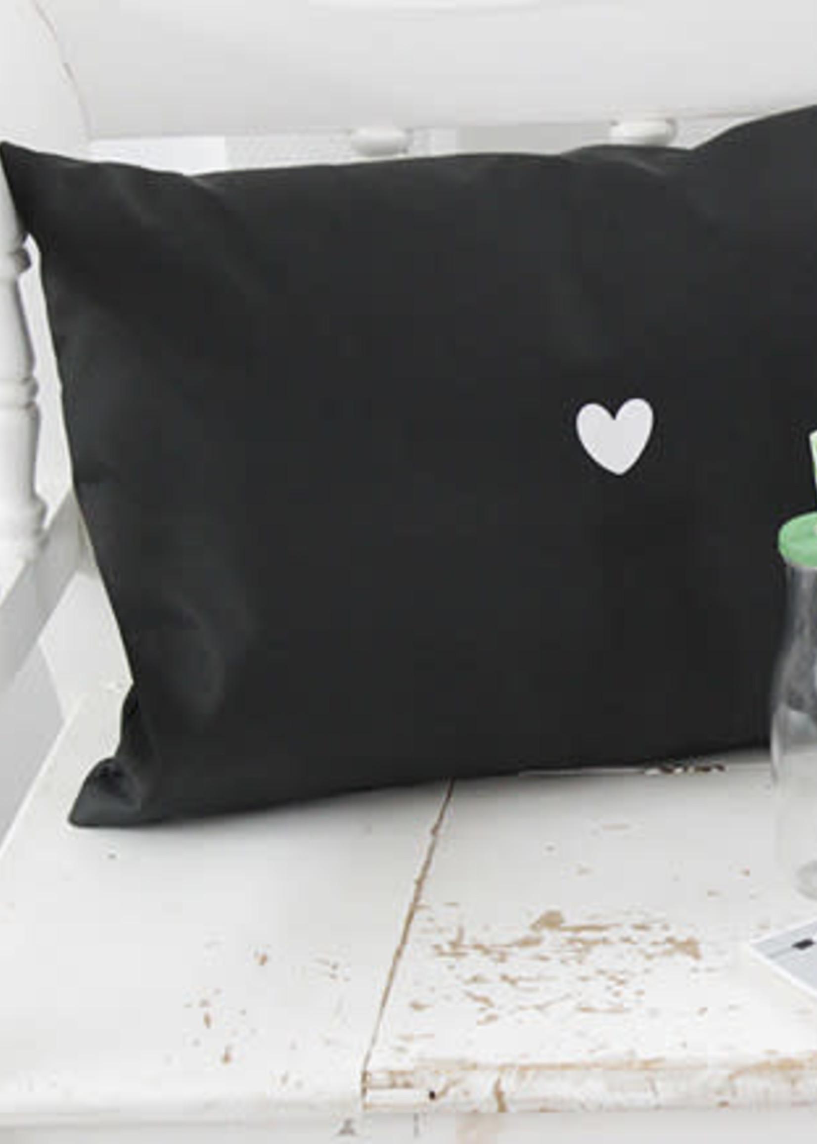 Outdoor kussen kl zwart, Druk op pauze  60x40cm