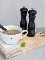 BASTION COLLECTIONS Soupbowl White /edge black 15cm