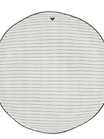 BASTION COLLECTIONS Plates Soup or Pasta Plate Stripes /edge Black